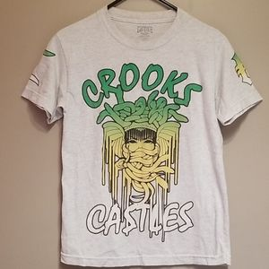Crooks & Ca$tles  gray medusa tshirt
